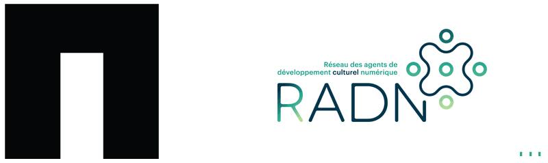 Logo Les productions du garde-robe et du réseau des agentes et agents culturels de développement numérique du Québec.